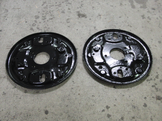 Hillman Imp brake plates powder coated