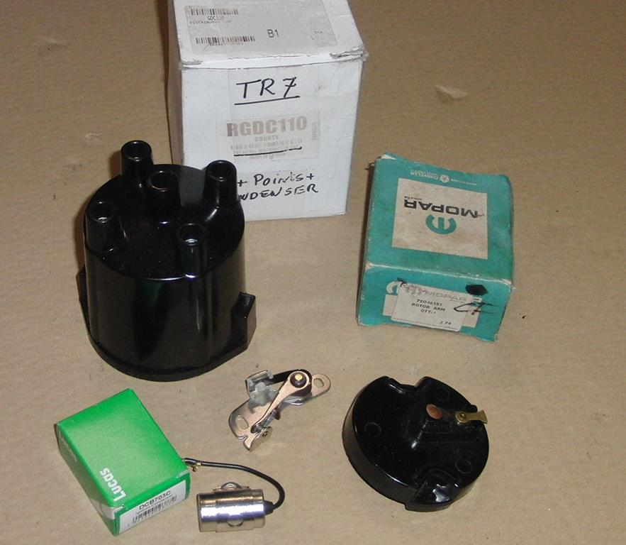 Triumph TR7 ignition kit (distributor cap points condensator)