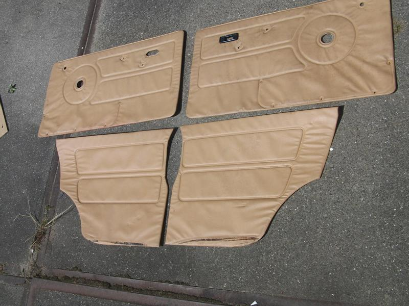Austin Mini complete (4 pieces) door trim and rear sides